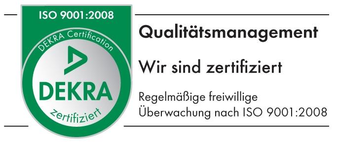 Wir sind DEKRA zertifiziert